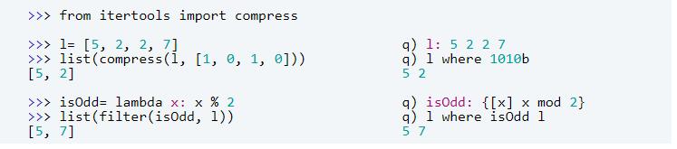 kdb+ and Python lists
